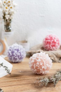 Flower-Ball Candle